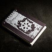 """Блокноты ручной работы. Ярмарка Мастеров - ручная работа Блокнот """"Снежинка"""". Handmade."""