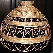 Для дома и интерьера ручной работы. Ярмарка Мастеров - ручная работа Абажур из лозы. Handmade.