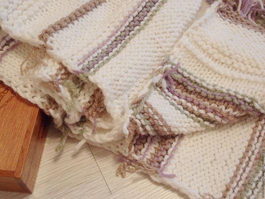 Шарфы и шарфики ручной работы. Ярмарка Мастеров - ручная работа. Купить Бохо шарф Крем-сирень. Handmade. Белый