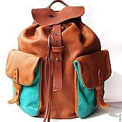 Сумки и аксессуары handmade. Livemaster - original item Handmade leather backpack. Handmade.