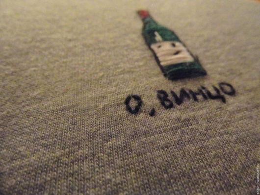 Кофты и свитера ручной работы. Ярмарка Мастеров - ручная работа. Купить Свитшот. Handmade. Серый, хлопок с полиэстром