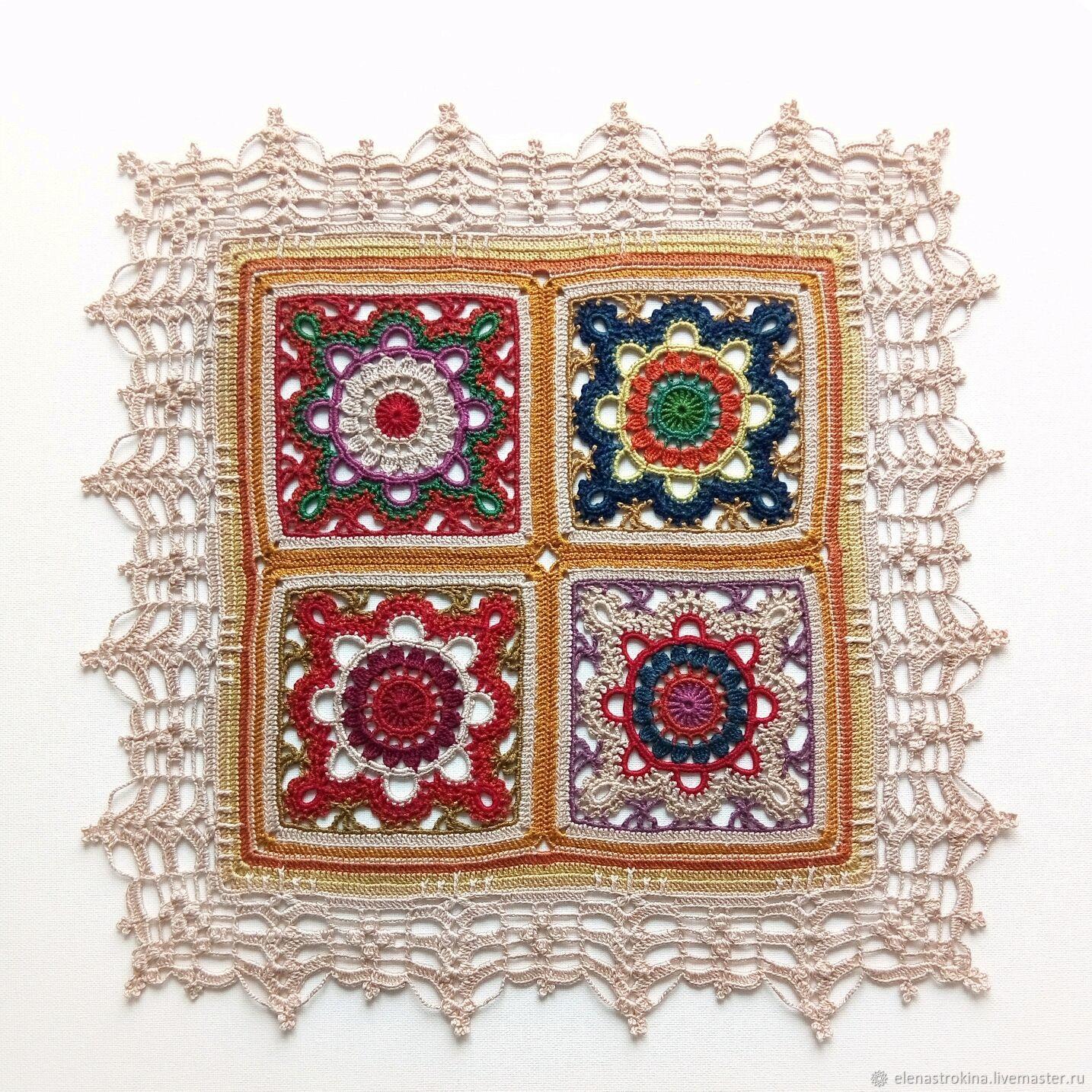 Doily crocheted 'sun Aug', Doilies, St. Petersburg,  Фото №1