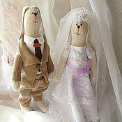 Свадебный салон ручной работы. Ярмарка Мастеров - ручная работа Свадебные зайцы-2.. Handmade.