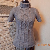 Одежда ручной работы. Ярмарка Мастеров - ручная работа Вязаный женский свитер.. Handmade.