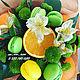 """Букеты ручной работы. Ярмарка Мастеров - ручная работа. Купить Букет из фруктов """"Апельсин"""". Handmade. Апельсин, зеленый, яркий, красота"""