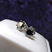 Украшения handmade. Livemaster - original item Earrings studs with diamonds. Handmade.