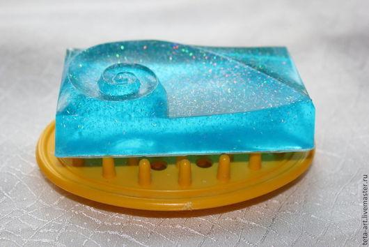 """Мыло ручной работы. Ярмарка Мастеров - ручная работа. Купить Мыло """"Волна"""". Handmade. Голубой, мыло с глиттером, мужское мыло"""