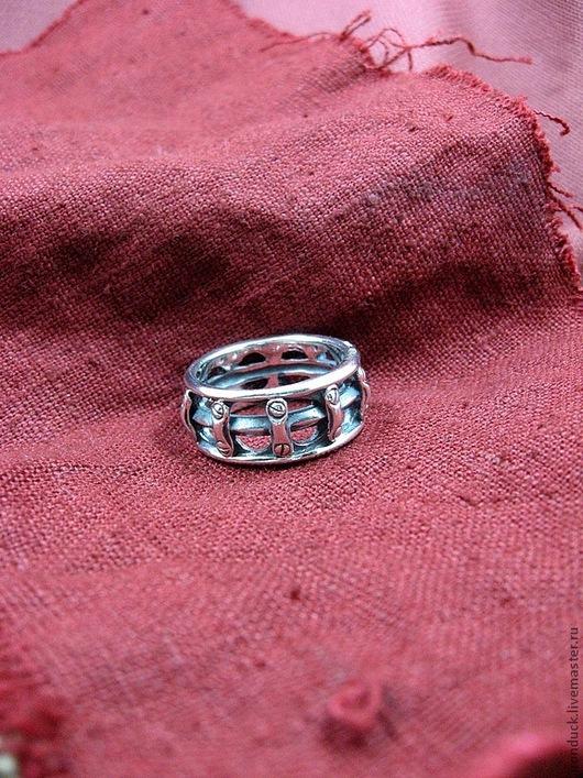 """Кольца ручной работы. Ярмарка Мастеров - ручная работа. Купить кольцо """"Револьвер"""". Handmade. Серебряный, кольцо, стильное украшение"""