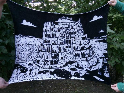 """Репродукции ручной работы. Ярмарка Мастеров - ручная работа. Купить Гобелен""""Вавилонская башня"""". Handmade. Чёрно-белый, подарок мужчине, мультяшки"""
