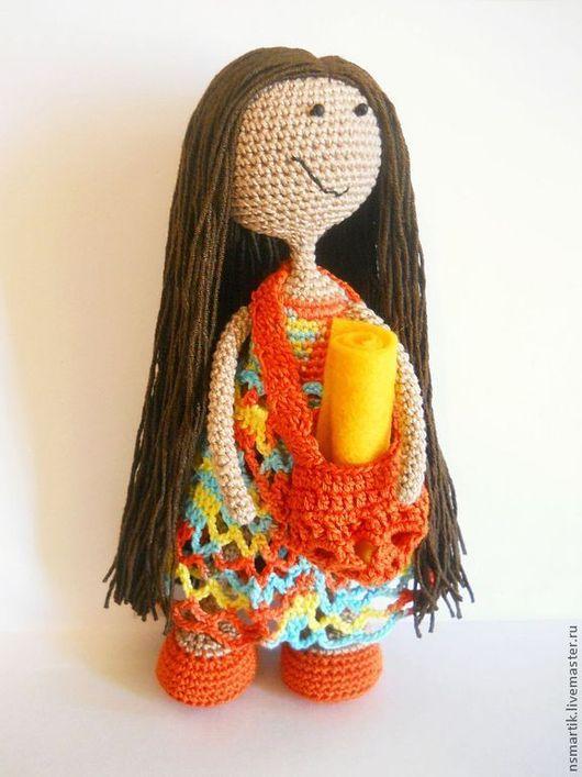 """Человечки ручной работы. Ярмарка Мастеров - ручная работа. Купить Кукла вязаная """"Полина"""". Handmade. Вязаная игрушка, яркая, проволока"""