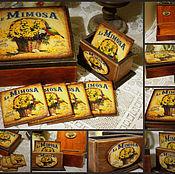 """Для дома и интерьера ручной работы. Ярмарка Мастеров - ручная работа Набор для кухни """"Mimoza"""". Handmade."""