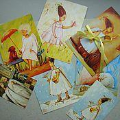 Открытки ручной работы. Ярмарка Мастеров - ручная работа Добрые дела.(набор открыток). Handmade.