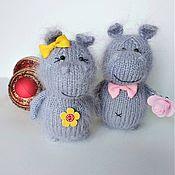 Stuffed Toys handmade. Livemaster - original item Knitted Hippo toy handmade gift Hippo. Handmade.