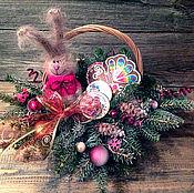 Подарки к праздникам ручной работы. Ярмарка Мастеров - ручная работа Корзина подарочная Для самых любимых. Handmade.