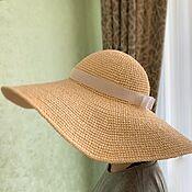 Аксессуары handmade. Livemaster - original item Hat with wide brim. Handmade.