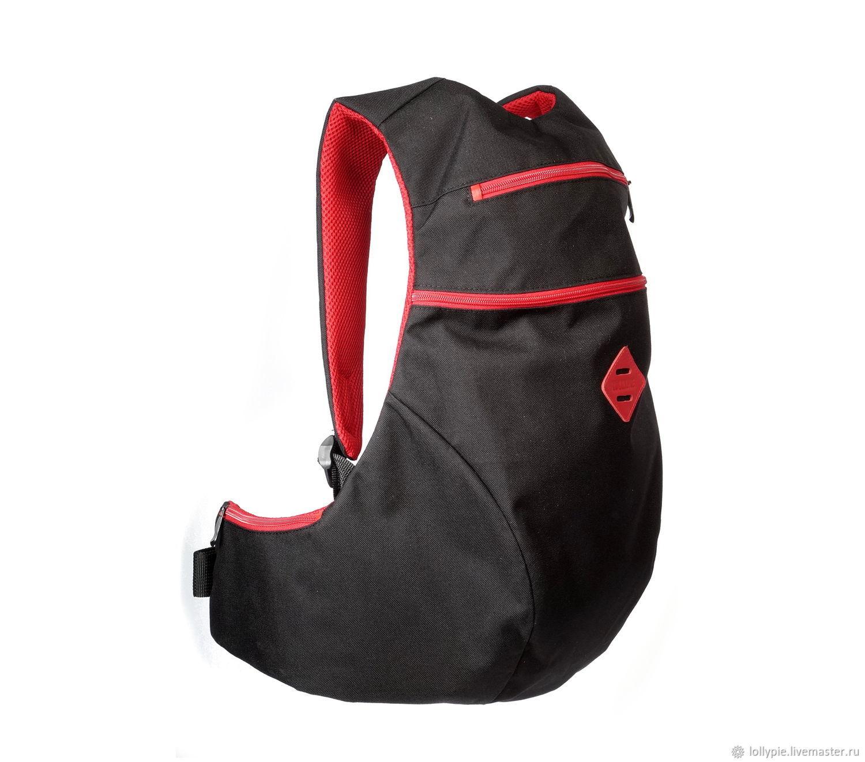 Black Red Anatomic Backpack, Backpacks, Moscow,  Фото №1