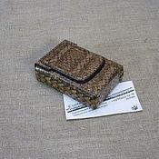Сувениры и подарки handmade. Livemaster - original item Python skin cigarette case. Regular cigarettes. Handmade.