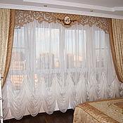 Для дома и интерьера ручной работы. Ярмарка Мастеров - ручная работа Шторы для спальни, покрывала, подушки. Handmade.