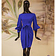 """Платья ручной работы. Ярмарка Мастеров - ручная работа. Купить Платье из плотного итальянского трикотажа с запАхом """"Роскошь синего"""". Handmade."""