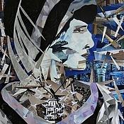 """Картина """"Анна Ахматова"""". Коллаж. Портрет. Ретро"""
