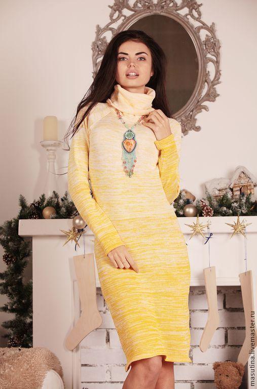 """Платья ручной работы. Ярмарка Мастеров - ручная работа. Купить Платье """"Ваниль"""". Handmade. Желтый, платье на зиму"""