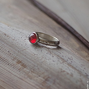 Украшения handmade. Livemaster - original item GRANATE silver ring (silver 950, cubic Zirconia). Handmade.