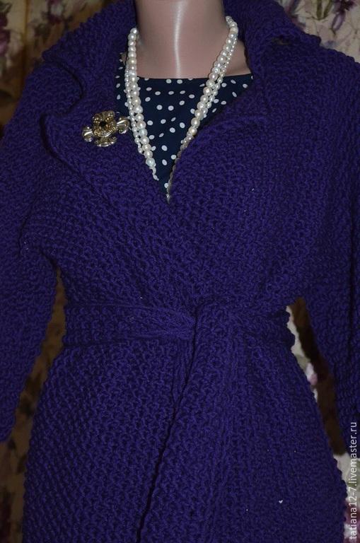 """Верхняя одежда ручной работы. Ярмарка Мастеров - ручная работа. Купить """"Violette"""" кардиган  ручной работы. Handmade. Тёмно-фиолетовый"""