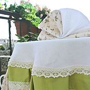 Для дома и интерьера handmade. Livemaster - original item Set table linen, tablecloth and napkins Provence. Handmade.