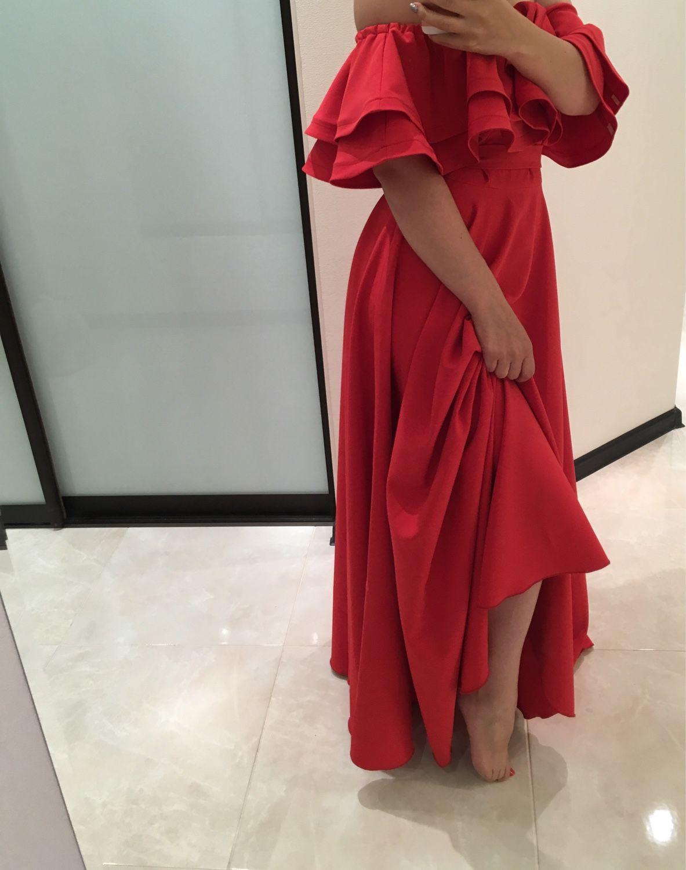 Платья с валанами в пол