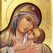 Картины и панно handmade. Livemaster - original item Gorbanevskaya (Korsun) icon of the mother Of God. Handmade.