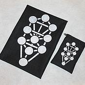 """Мешочек ручной работы. Ярмарка Мастеров - ручная работа Эксклюзивный набор для гадания на картах Таро """"Сефирот""""  ручной работы. Handmade."""