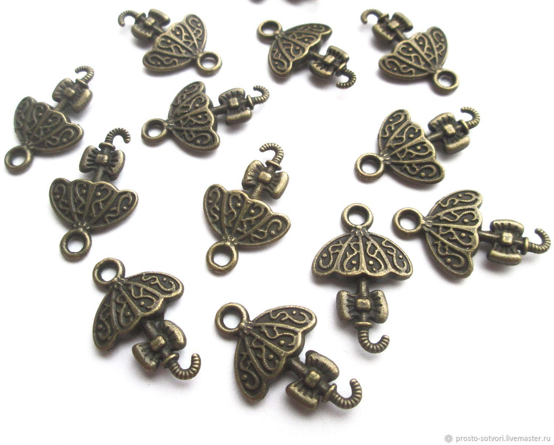 Umbrella pendant bronze metal accessories for jewelry, Accessories for jewelry, Ekaterinburg,  Фото №1