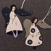 Подарки к праздникам ручной работы. Ярмарка Мастеров - ручная работа Ангелы-звездочеты. Handmade.