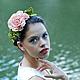 Диадемы, обручи ручной работы. Ободок с цветами из фоамирана Английская роза. Свадебный декор и аксессуары. Интернет-магазин Ярмарка Мастеров.