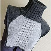 """Одежда ручной работы. Ярмарка Мастеров - ручная работа Вязаная манишка """"Оттенки серого"""". Handmade."""