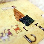 Для дома и интерьера ручной работы. Ярмарка Мастеров - ручная работа Ключница-вешалка Путешественник, кошки и одна собака. Handmade.