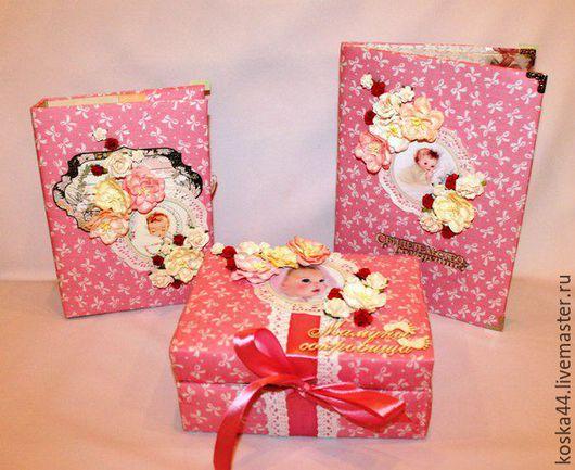 Подарки для новорожденных, ручной работы. Ярмарка Мастеров - ручная работа. Купить Комплект для девочки. Handmade. Комбинированный, подарки ручной работы