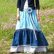 Одежда handmade. Livemaster - original item The floor-length skirt linen. Handmade.