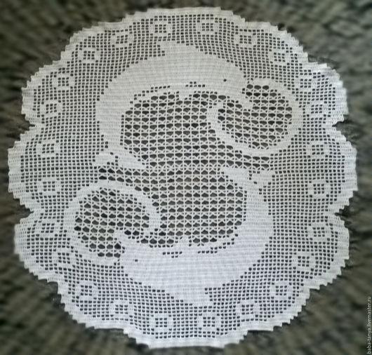 Текстиль, ковры ручной работы. Ярмарка Мастеров - ручная работа. Купить Салфетка Дельфины. Handmade. Белый, филейное вязание, дельфины
