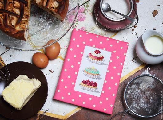 """Кулинарные книги ручной работы. Ярмарка Мастеров - ручная работа. Купить кулинарная тетрадь """"Капкейки"""". Handmade. Кулинарная книга, вышивка"""