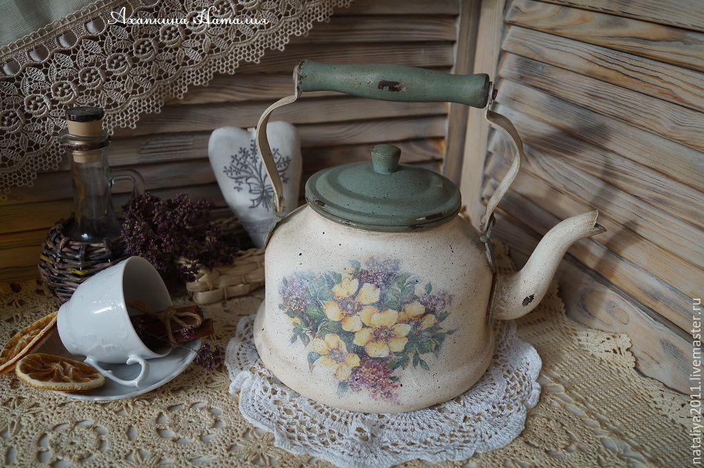 картинки заварочных чайников декупаж для фото