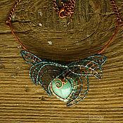 """Украшения ручной работы. Ярмарка Мастеров - ручная работа Колье """"Сердце в листве"""". Handmade."""