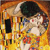 """Картины и панно ручной работы. Ярмарка Мастеров - ручная работа Вышивка - картина """"Поцелуй"""". Handmade."""