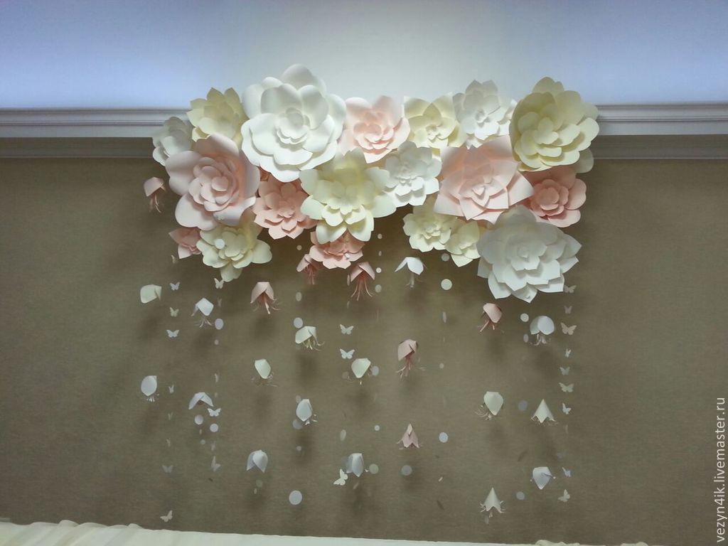 Цветы из бумаги для оформления зала шаблоны 77