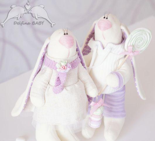 """Игрушки животные, ручной работы. Ярмарка Мастеров - ручная работа. Купить Мягкая игрушка, заяц """"Сладкая парочка"""". Handmade. Заяц"""