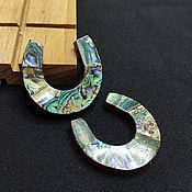 Материалы для творчества handmade. Livemaster - original item Haliotis Paua pendant on a horseshoe tree 42h45mm. Handmade.