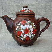 """Посуда ручной работы. Ярмарка Мастеров - ручная работа Керамика Чайник """"Мой любимый гранатовый"""" Гончарная посуда. Handmade."""