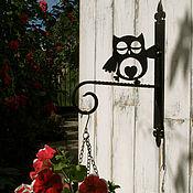 Для дома и интерьера ручной работы. Ярмарка Мастеров - ручная работа кронштейны для кашпо Счастливые совы. Handmade.