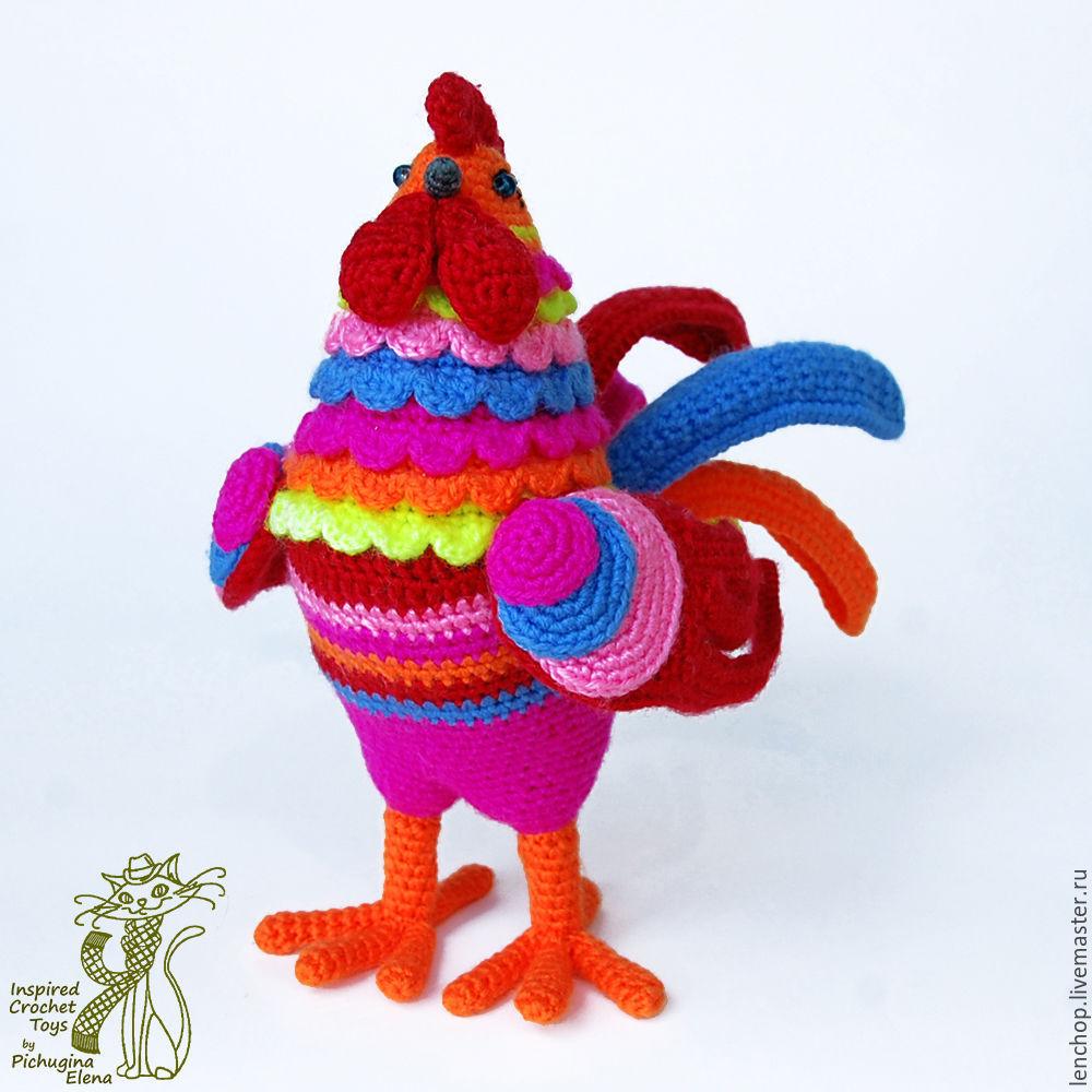 петух красавчик гордый петух пасхальный сувенир птица крючком