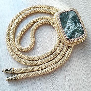 Accessories handmade. Livemaster - original item Ties: Bolo tie beaded harness